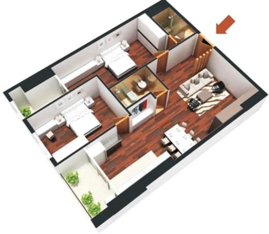 27 88 Cửa chính hợp khoa học phong thủy cho căn hộ chung cư