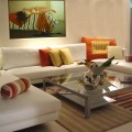 sofa-white-fabric-modern-pillow-orange-yellow-table-glass-painting-carpets-fullcolor-wall-cream-paper-pots-floor-cream-ceramic