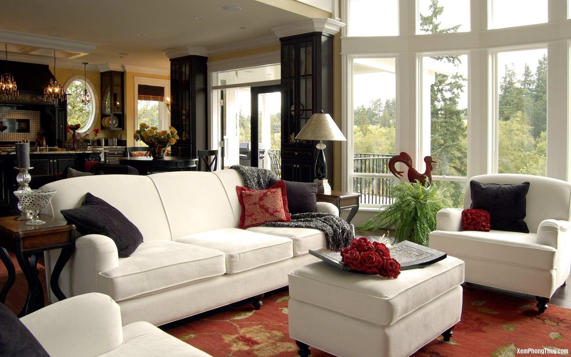 bai tri sofa hop phong thuy 3 Cách bố trí ghế sofa mang lại thịnh vượng