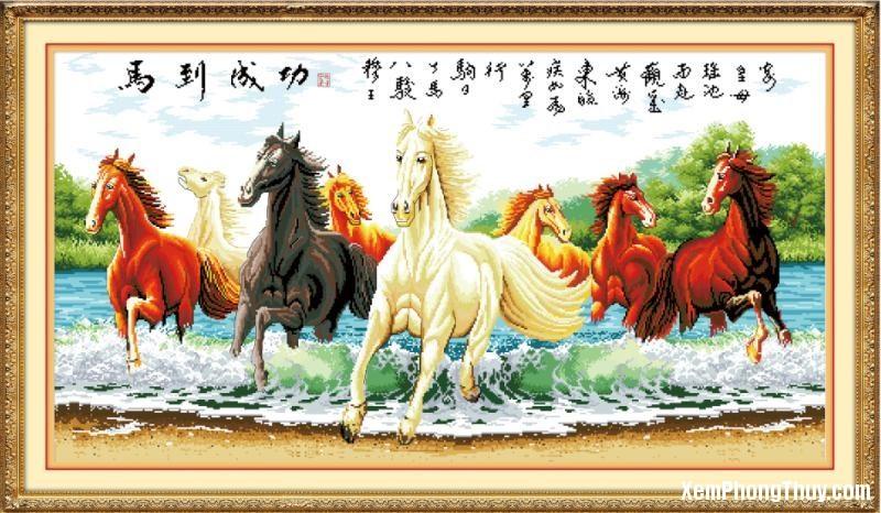 tranh con ngua Những điểm cần lưu ý khi treo tranh Ngựa ở trong nhà