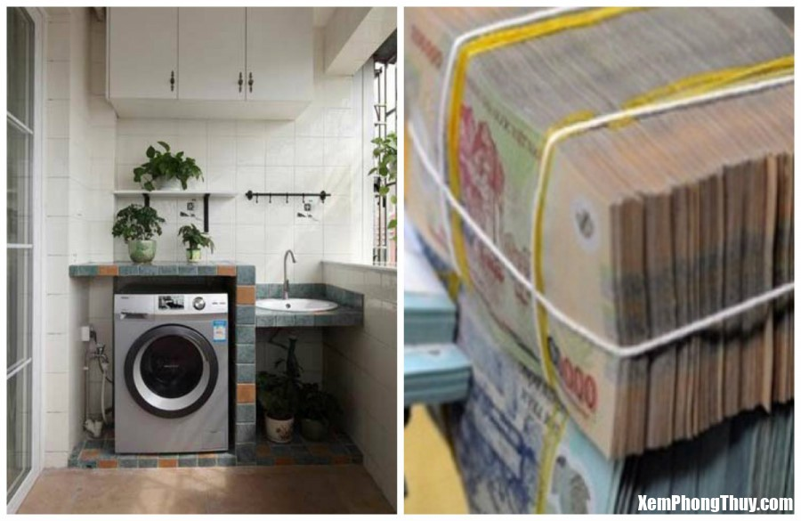 dat may giat dung phong thuy gia chu hot tien vo chong hanh phuc Đặt máy giặt đúng phong thuỷ: Gia chủ hốt tiền đầy túi, vợ chồng hạnh phúc